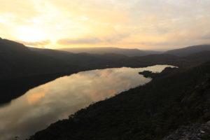 Sonnenuntergang in Tasmanien
