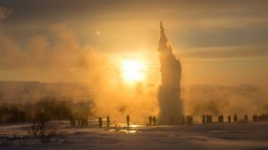 Geysir im Winter