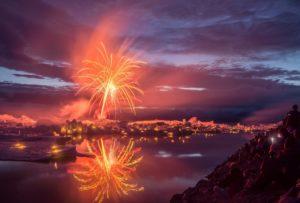Joekulsarlon Feuerwerk